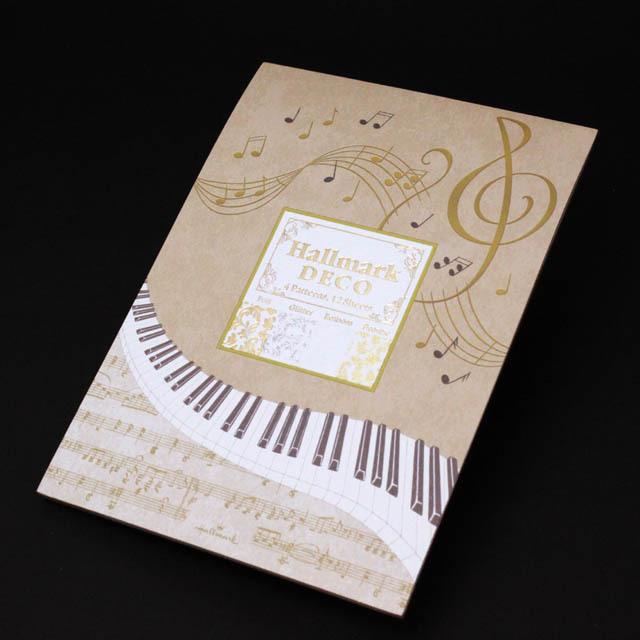DECO ト音記号 鍵盤 楽譜 音楽雑貨 便箋