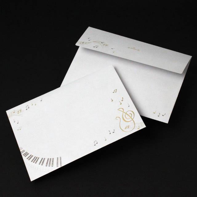 DECO ト音記号 鍵盤 楽譜 音楽雑貨 封筒