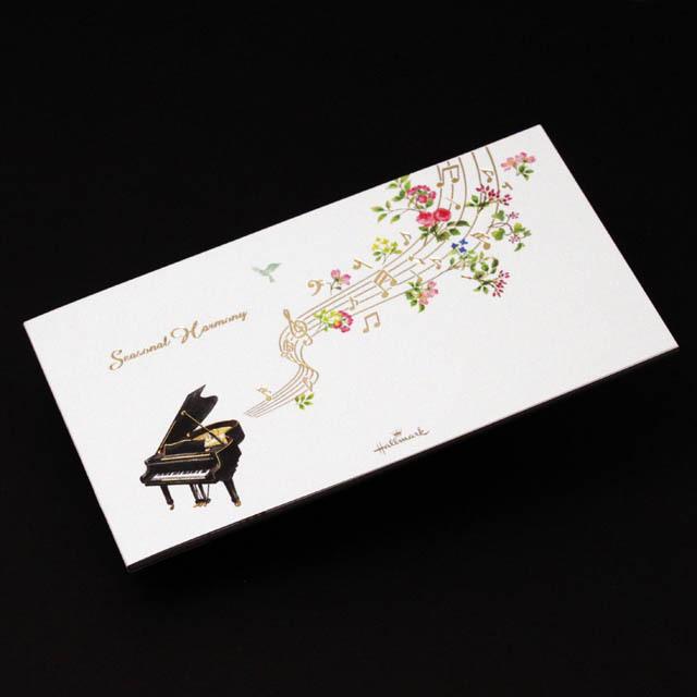 シーズナルハーモニー ピアノ 音符 音楽雑貨 一筆箋