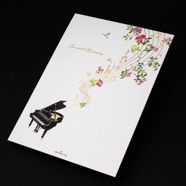 シーズナルハーモニー ピアノ 音符 音楽雑貨 便箋
