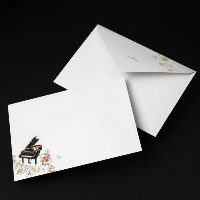 シーズナルハーモニー ピアノ 音符 音楽雑貨 封筒