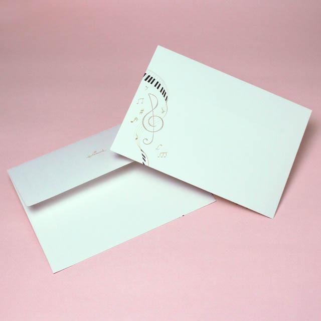 ト音記号とハーモニー 封筒 音楽雑貨 音楽グッズ