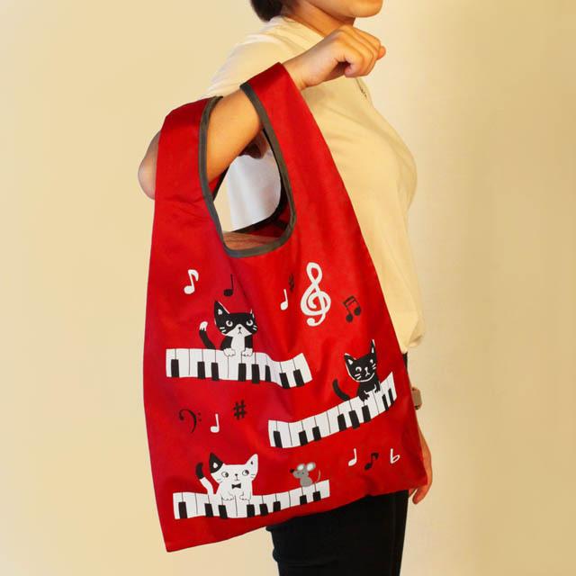 エコバッグ ピアノ 鍵盤 音楽雑貨 音楽グッズ