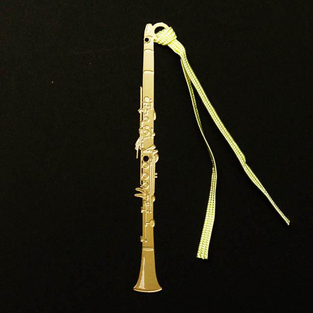 クラリネット Clarinet きんのしおり 純金メッキ栞 音楽雑貨 音楽グッズ