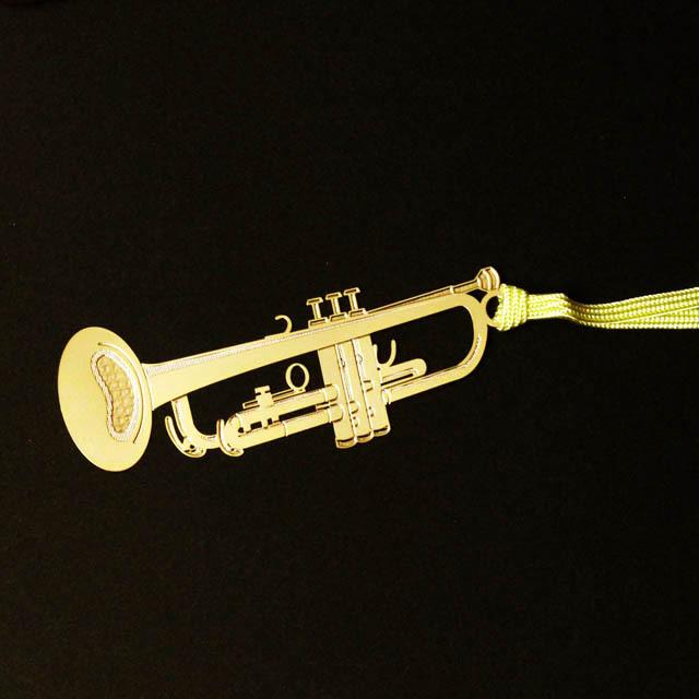 トランペット Trumpet きんのしおり 純金メッキ栞 音楽雑貨 音楽グッズ