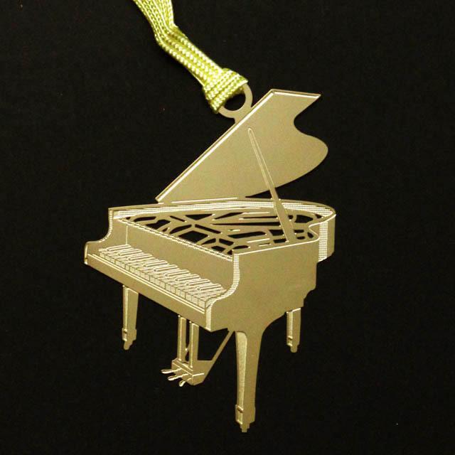 グランドピアノ Grand piano きんのしおり 純金メッキ栞 音楽雑貨 音楽グッズ