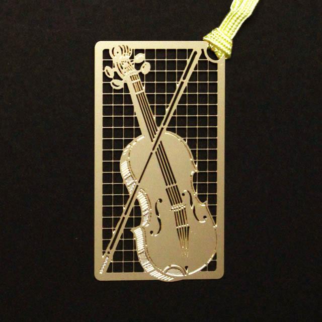 ヴァイオリン Violin きんのしおり 純金メッキ栞 音楽雑貨 音楽グッズ