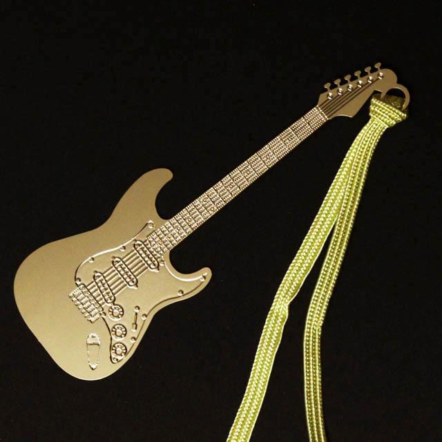 エレキギター Electric Gutar きんのしおり 純金メッキ栞 音楽雑貨 音楽グッズ
