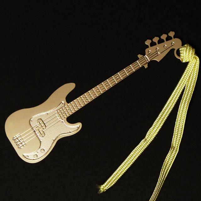 エレキベース Electric Bass きんのしおり 純金メッキ栞 音楽雑貨 音楽グッズ