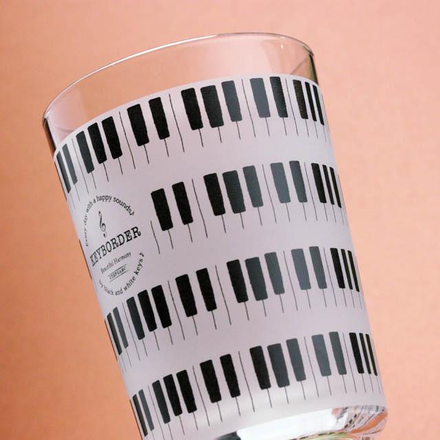 KEYBORDER ピアノ鍵盤 タンブラー 音楽雑貨 音楽グッズ