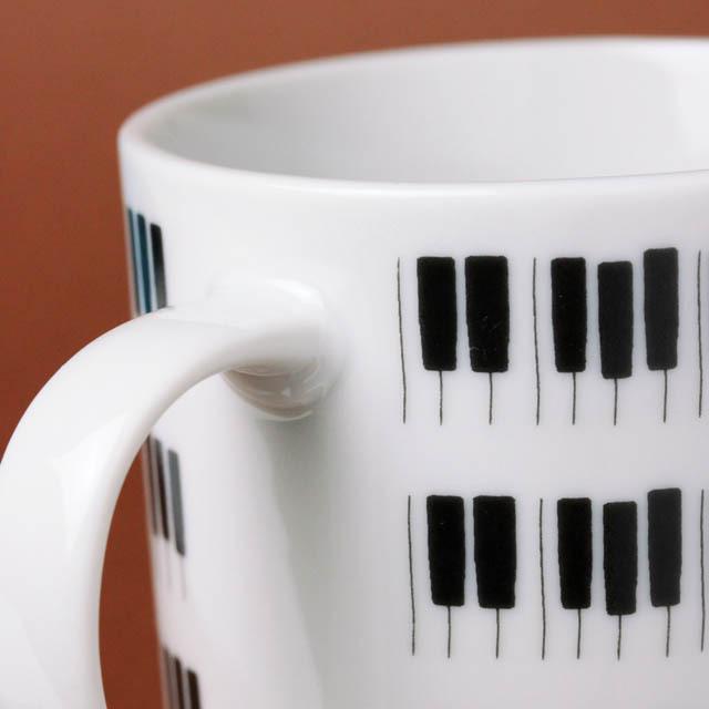 KEYBORDER ピアノ鍵盤 マグカップ 音楽雑貨 音楽グッズ