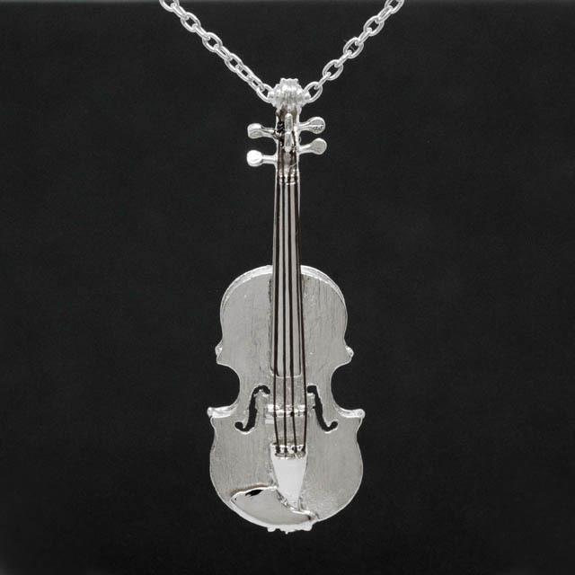 ヴァイオリン Violin シルバー ペンダント SV925 音楽雑貨 音楽アクセサリー
