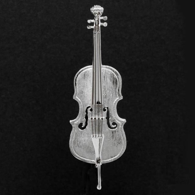 チェロ Violoncello シルバー ブローチ SV925 音楽雑貨 音楽アクセサリー