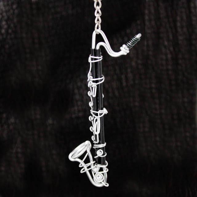 wire art ワイヤーアート バスクラリネット BassClarinet バスクラ 音楽雑貨 音楽グッズ