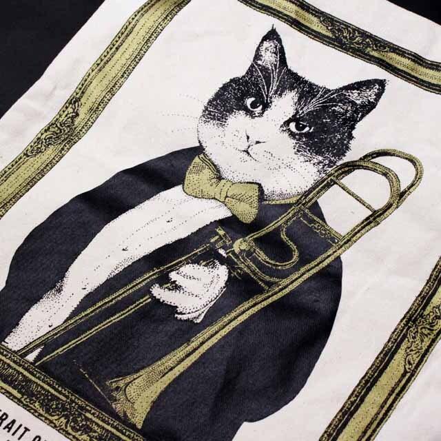 トロンボーン Trombone 厚手コットンキャンバス トート 音楽雑貨