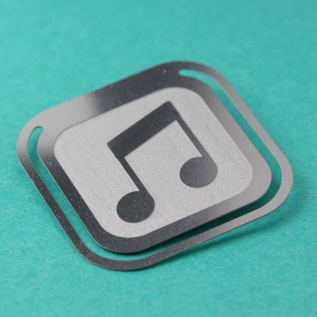 ピクトグラム クリップ 2連8分音符 音楽雑貨