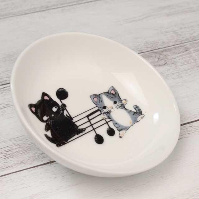 Yamaneko 音符 豆絵皿 音楽雑貨