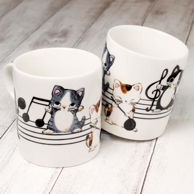Yamaneko 音符 マグカップ 音楽雑貨