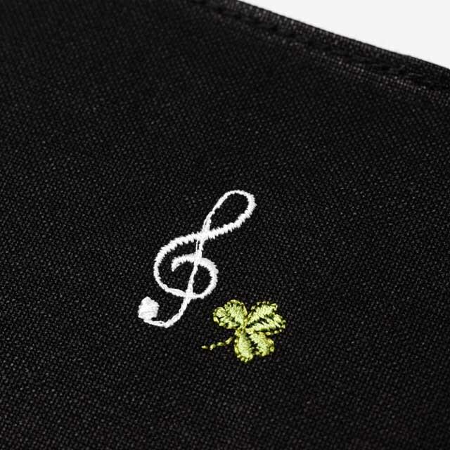 音部刺繍 ブックカバー ト音記号 音楽雑貨