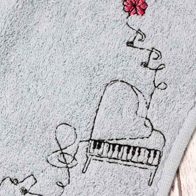 グランドピアノ 音楽雑貨 音楽グッズ タオルハンカチ