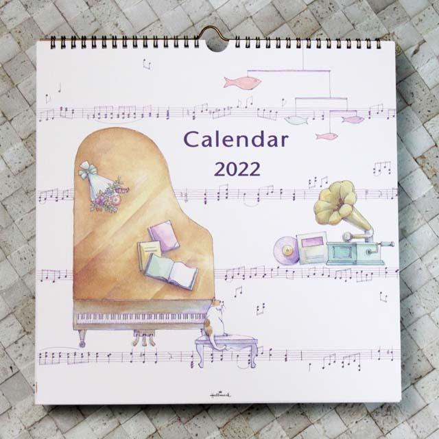 音楽のある生活 壁掛カレンダー 2022 音楽雑貨 音楽グッズ