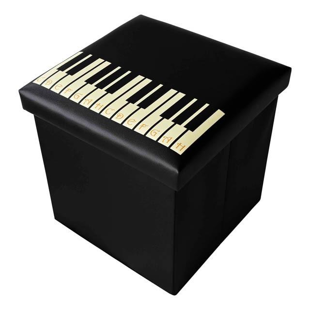 ピアノ鍵盤 スツールボックス 椅子 音楽雑貨 音楽グッズ