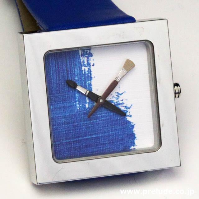 AKTEO 腕時計 BLUE PAINT KUBIK 画家 ペイント