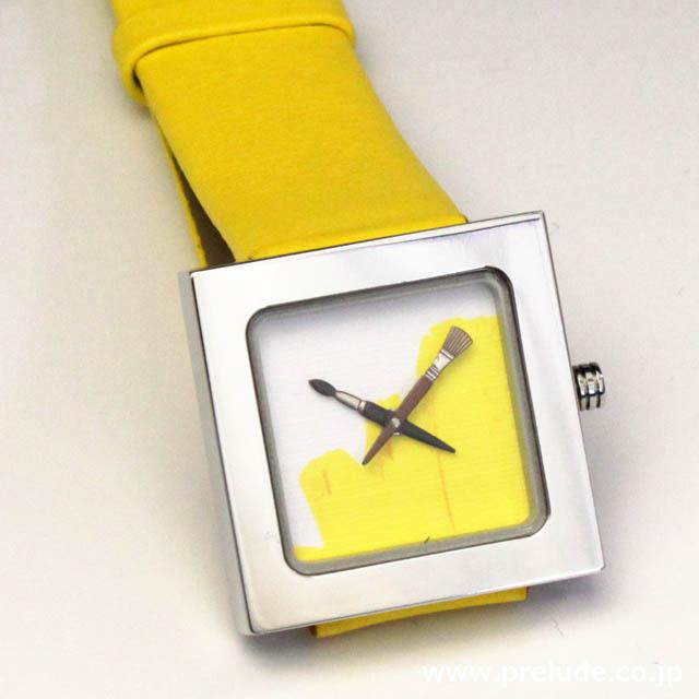 AKTEO 腕時計 YELLOW PAINT KUBIK LADY 画家 ペイント