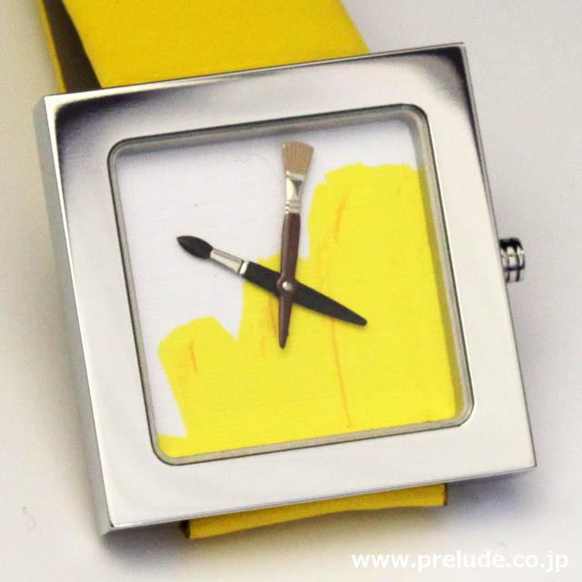 AKTEO 腕時計 YELLOW PAINT KUBIK 画家 ペイント