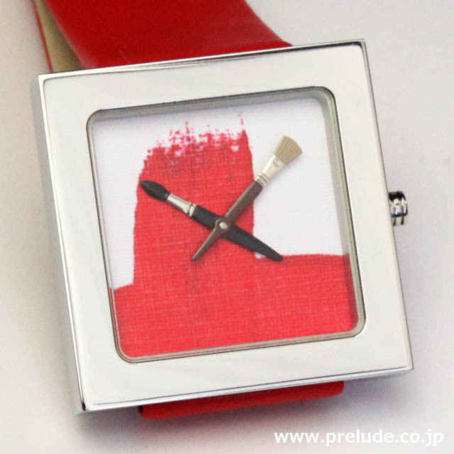 AKTEO 腕時計 RED PAINT KUBIK  画家 ペイント