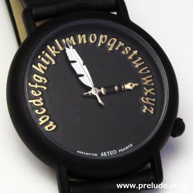 AKTEO 腕時計 WRITER BLACK 文筆家 文学