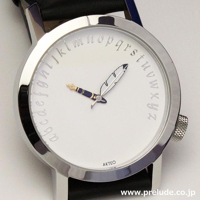 AKTEO 腕時計 WRITER 42 WHITE 文筆家 文学