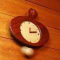 ト音記号 振り子時計 銘木 音楽雑貨 音楽グッズ 音楽小物 音楽ギフト
