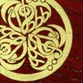 会津塗 蒔絵 けやき名刺盆 音楽紋付 ト音記号 ヘ音記号 フェルマータ ♭ 8分音符 音楽雑貨 音楽グッズ 音楽ギフト 音楽小物