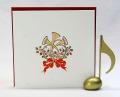 音楽雑貨 文具 クリスマス カード ホルン ギフト 楽器 楽譜 音符