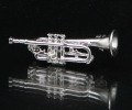 マット&ブライトシリーズ トランペット ブローチ 音楽アクセサリー 楽器アクセサリー 音楽雑貨