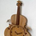ヴァイオリン 弦楽器 振り子時計 銘木 音楽雑貨 音楽グッズ 音楽ギフト 楽器グッズ