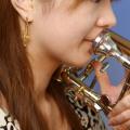 トロンボーン 3Dピアス 音楽アクセサリー 音楽雑貨 音楽ギフト音楽グッズ trombone
