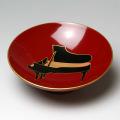会津塗 木製朱盃 酒杯 グランドピアノ 鍵盤 音楽雑貨 音楽グッズ 音楽ギフト 音楽小物