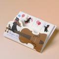 音楽雑貨 付箋 ヴァイオリン 弦楽器 bonjour Mie 音楽ギフト 音楽グッズ 文具