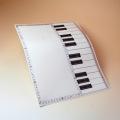 鉛筆で書き込める クリアファイル クリアフォルダ 鍵盤 ト音記号 音楽雑貨 音楽グッズ 音楽小物