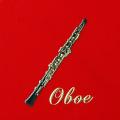 蒔絵風 携帯ステッカー オーボエ oboe 音楽雑貨 音楽グッズ 音楽ギフト