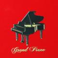 蒔絵風 携帯ステッカー グランドピアノ piano 音楽雑貨 音楽グッズ 音楽ギフト