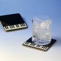 ピアノ 鍵盤 コースター 漆器 音楽雑貨 音楽ギフト 音楽グッズ