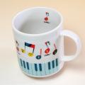 マグカップ ピアノ鍵盤 音符 発表会記念 音楽雑貨 音楽グッズ 音楽ギフト