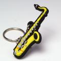 テナーサックス tenor sax ラバーズキーホルダー 音楽雑貨 音楽ギフト 音楽グッズ