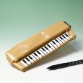 エナメル ペンポーチ ピアノ鍵盤 音楽雑貨 音楽グッズ
