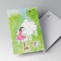 唐沢静 ポストカード 絵葉書 音楽雑貨 Little Pianist