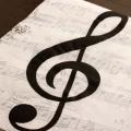ト音記号と楽譜 ペーパーナプキン 音楽雑貨 音楽グッズ