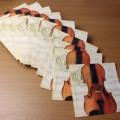 ヴァイオリン 楽譜 ペーパーナプキン 音楽雑貨 音楽グッズ